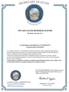 Nevada Business License